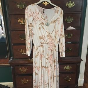 Elegant flowy floral long dress made in USA